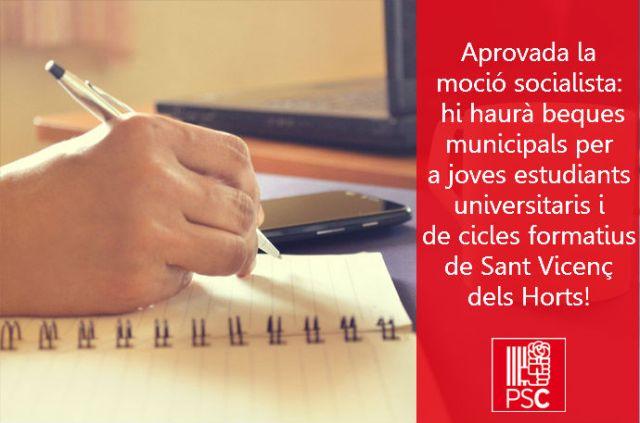 beques_joves_estudiants_ PSC Sant Vicenç dels Horts Miguel Comino