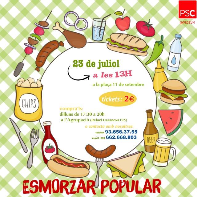 dinar festa major estiu 2017 PSC Sant Vicenç dels Horts