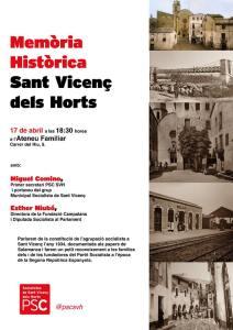 acte memòria històrica PSC Sant Vicenç dels Horts Miguel Comino
